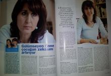 ÇOCUKLARDA ZEKA konulu röportaj Hürriyet Yeni Anne Dergisi Aralık 2011