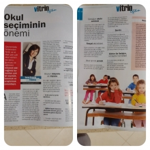 Okul Seçiminin Önemi  Vitrin degisi Ağustos 2015 sayısı