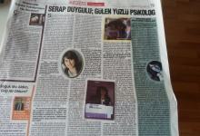 Serap Duygulu:GÜLEN YÜZLÜ PSİKOLOG Önce Vatan Gazetesi 15 Aralık 2012